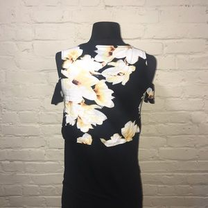 Juicy Couture Tops - Women s Juicy Couture Black Flowers Shirt Size XS 1af0040ca